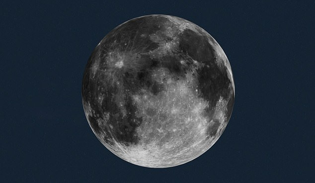 Pictured is an image from NASA that shows what the moon will look like on the evening of December 29