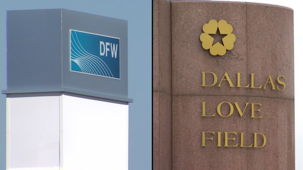 DFW, Love Field Airports closed until 5:30 p.m., all inbound and outbound flights delayed - NBC 5 Dallas-Fort Worth