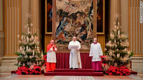 Pope Francis has called on countries to share Covid-19 vaccines in a Christmas message
