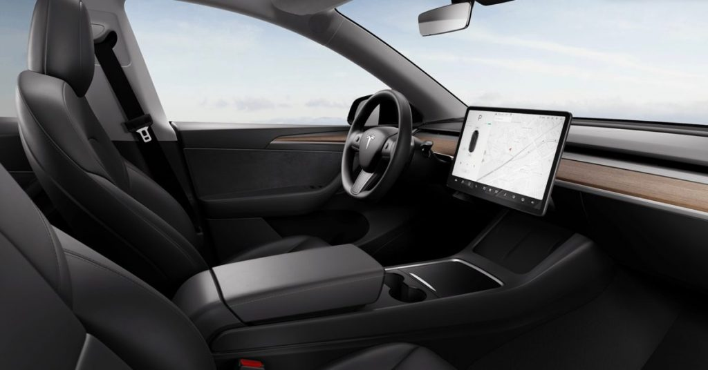 Tesla is updating the interior design of the Model Y electric car