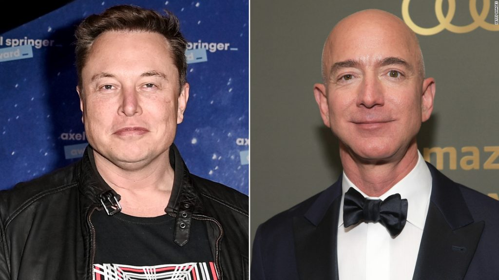 Elon Musk is close to surpassing Jeff Bezos as the world's richest person
