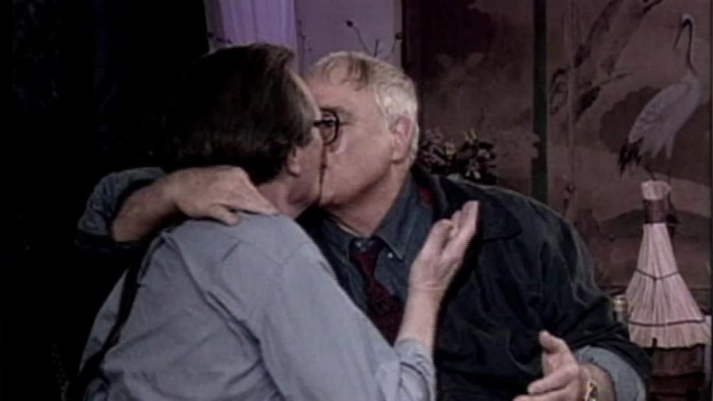 Marlon Brando kiss and Larry King famous mouthful kiss