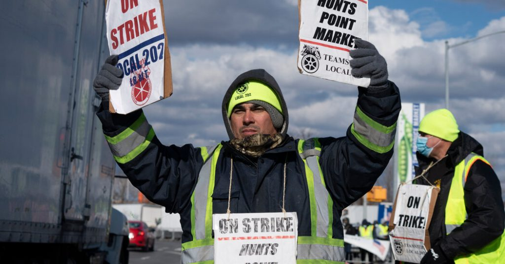 A strike in the largest wholesale market in the United States threatens the supply chain