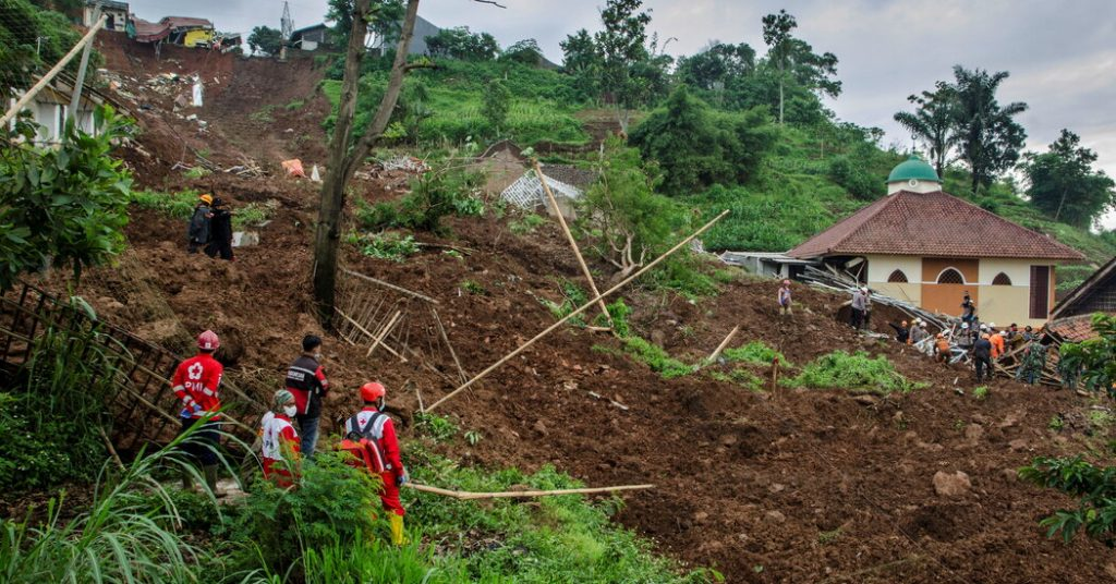 At least 12 people were killed in two landslides in Indonesia