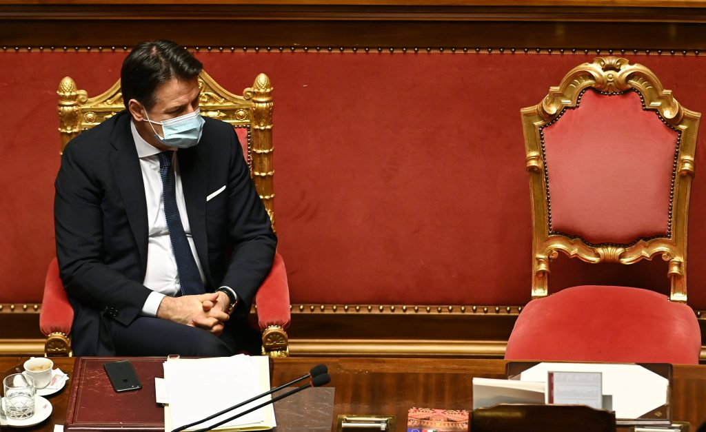 Prime Minister Giuseppe Conte wins Senate votes and leads a minority government